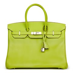 Hermès Kiwi & Lichen Epsom Leather Candy Collection Birkin 35