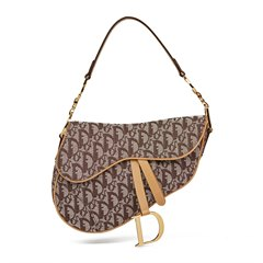 Christian Dior Brown Monogram Canvas Saddle Bag