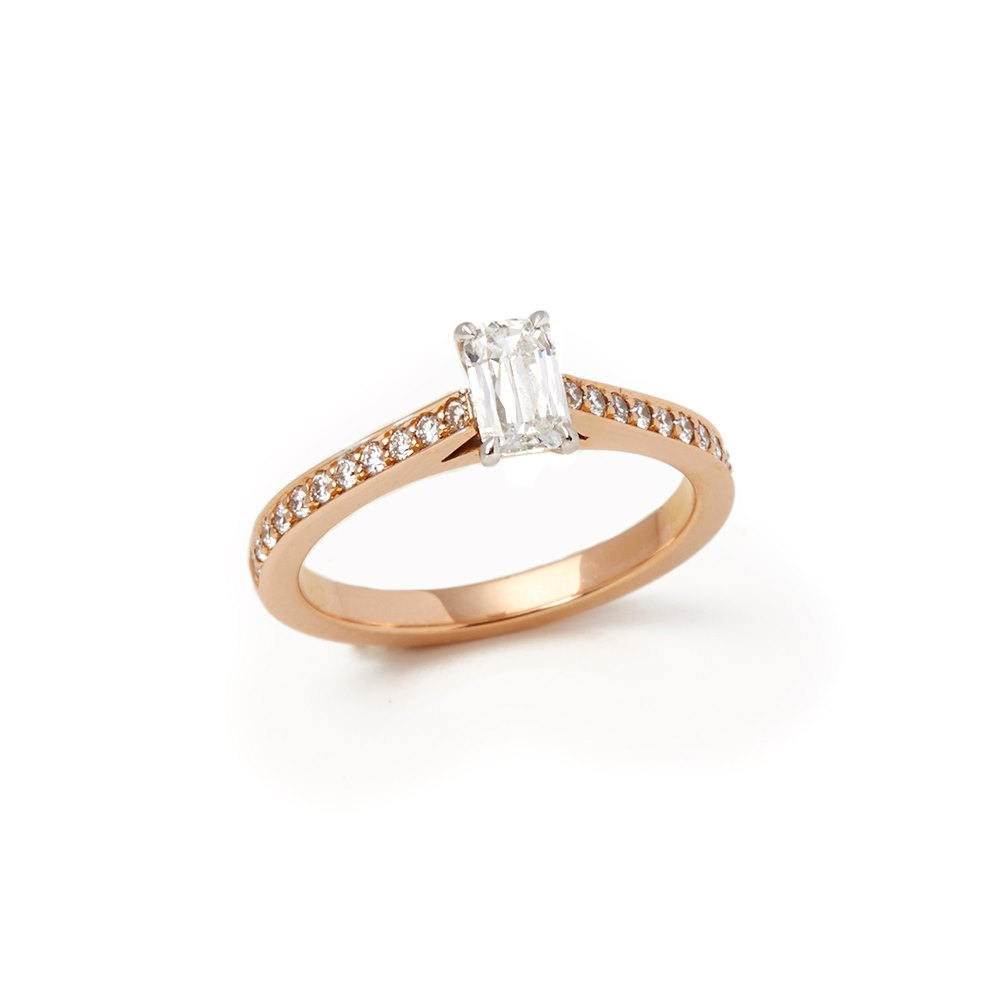 Boodles 18k Rose Gold Harmony Ashoka Diamond Ring