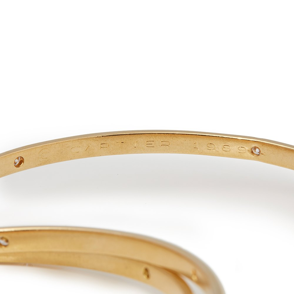Cartier 18k Yellow Gold Vintage Diamond Constellation Trinity Bangle