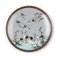 ANTIQUE JAPANESE MEIJI CLOISONNE BIRD PLAQUE 19TH C.