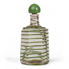 PAOLO VENINI TRAILED SPIRAL GLASS DECANTER c.1950