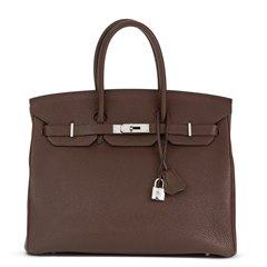 Hermès Chocolate Togo Leather Birkin 35cm