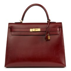 Hermès Rouge H Box Calf Leather Kelly 35cm Sellier