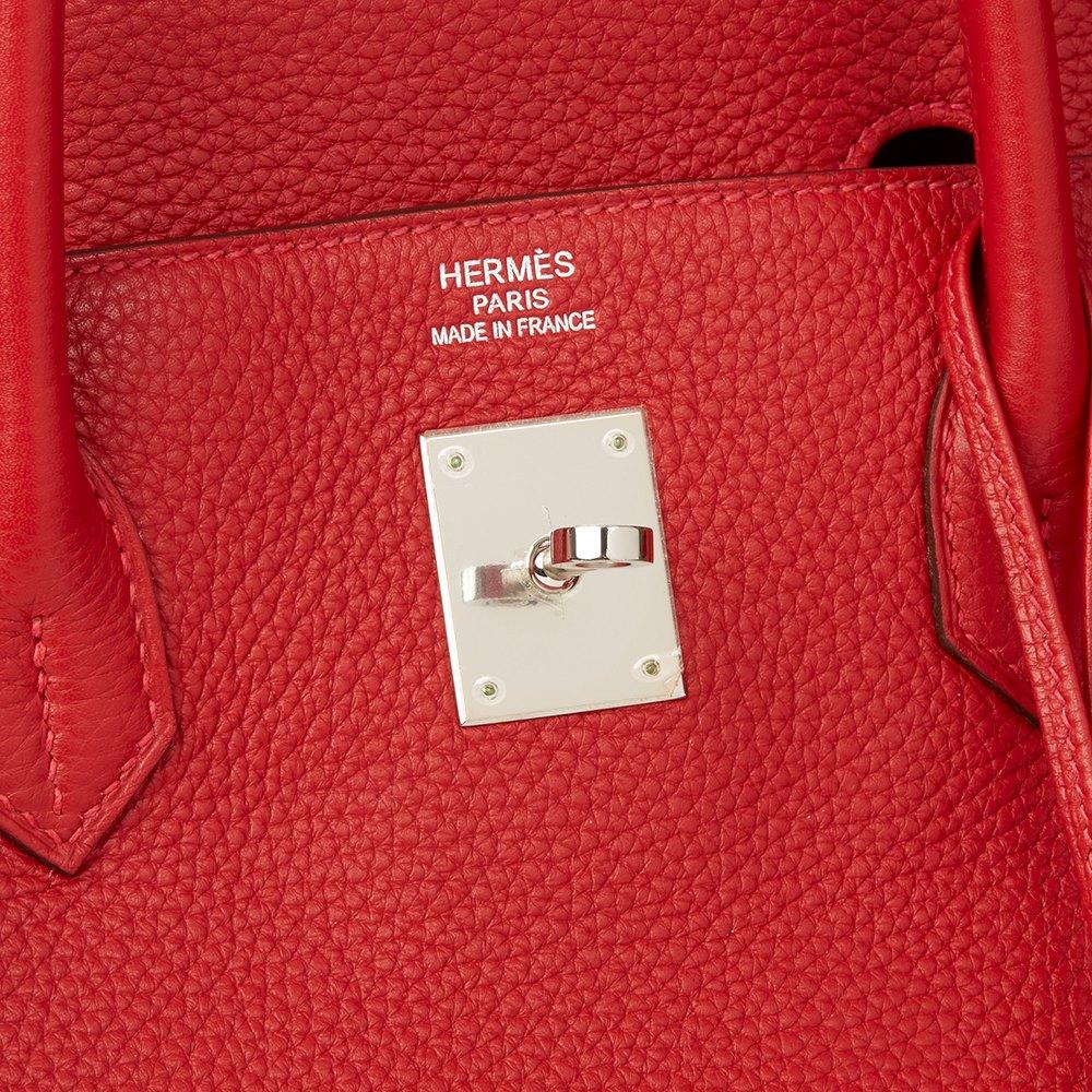 Hermès Rouge Casaque Clemence Leather Birkin 40cm 69d23400b2d23