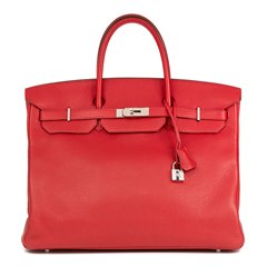Hermès Rouge Casaque Clemence Leather Birkin 40cm