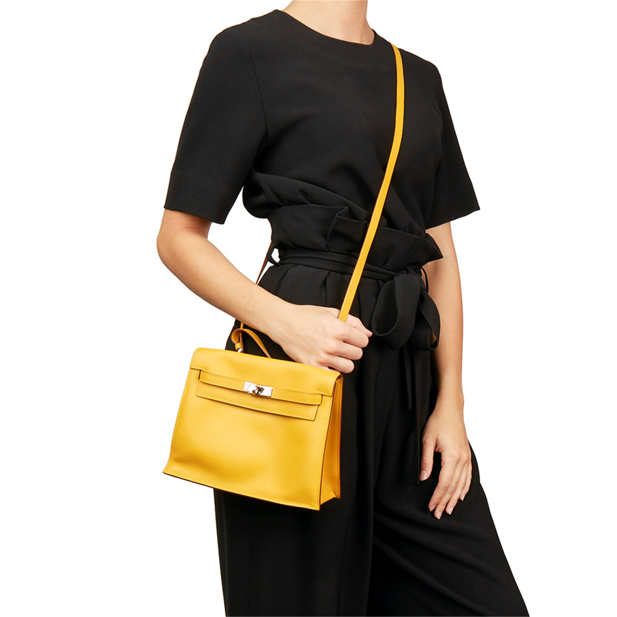 Hermès Jaune d'or Swift Leather Kelly Danse
