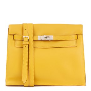 Hermès Jaune d'or Swift Leather Kelly Danse