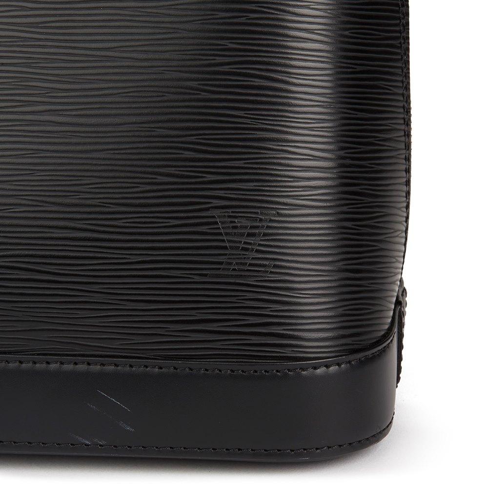 071ff696151b Louis Vuitton Black Epi Leather Alma PM