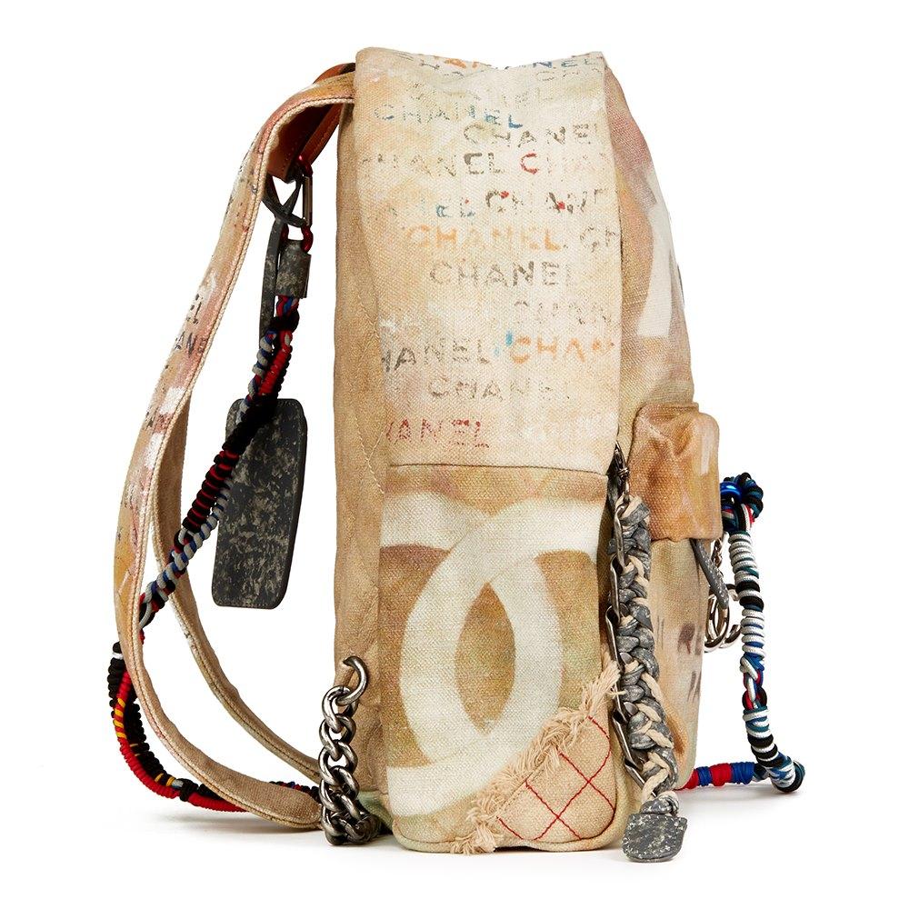 e84df69c52f5d7 Chanel Medium Graffiti Backpack 2014 HB2291 | Second Hand Handbags