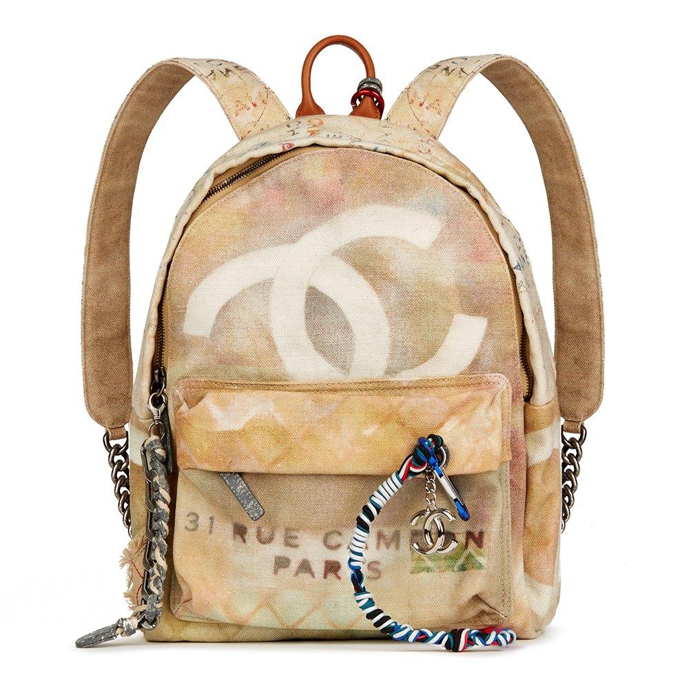 05e2357afc2c Chanel Medium Graffiti Backpack 2014 HB2291   Second Hand Handbags