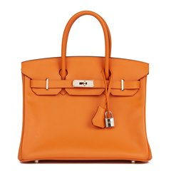 Hermès Orange H Epsom Leather Birkin 30cm