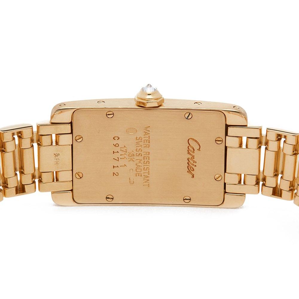 Cartier Tank Americaine Diamond 18k Yellow Gold 1711