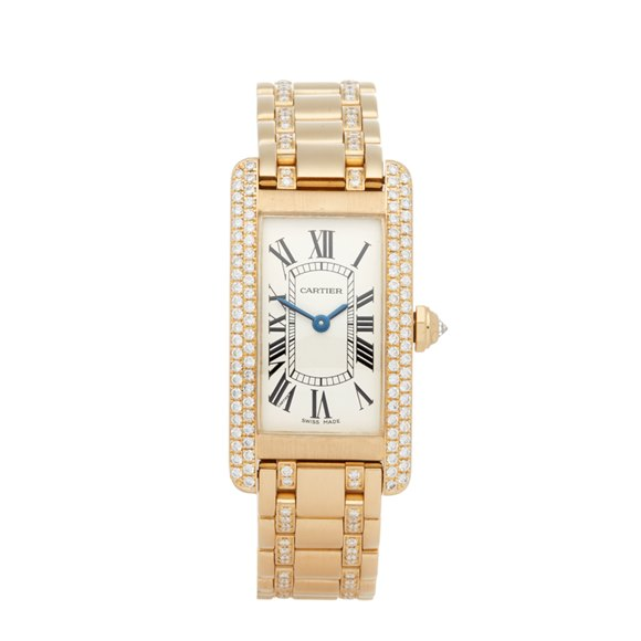 Cartier Tank Americaine Diamond 18k Yellow Gold - WB7012JL or 1710