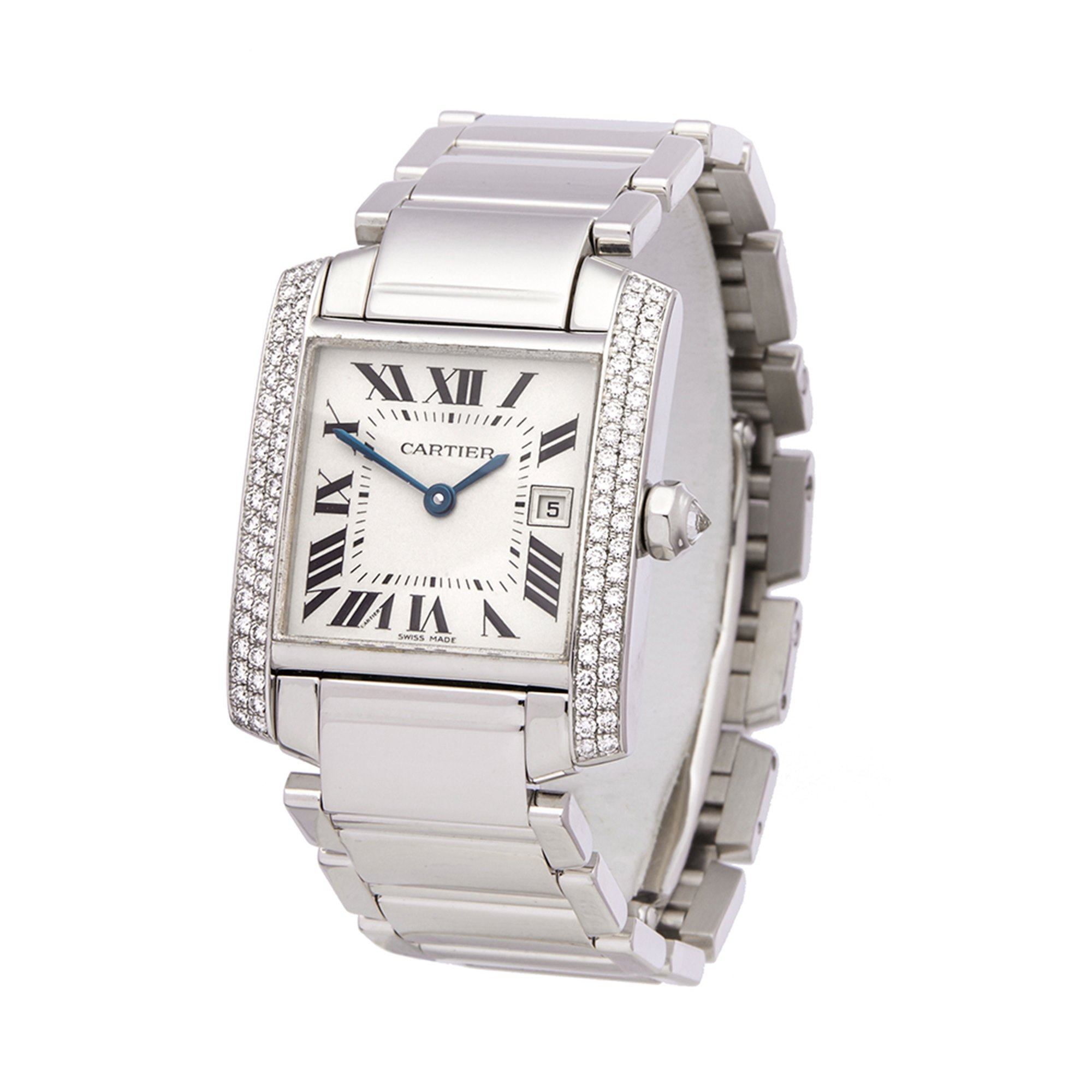 Cartier Tank Francaise Diamond White Gold WE1018S3 or 2491