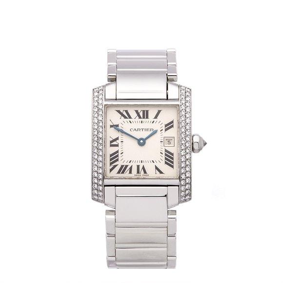 Cartier Tank Francaise 18K White Gold - 2491