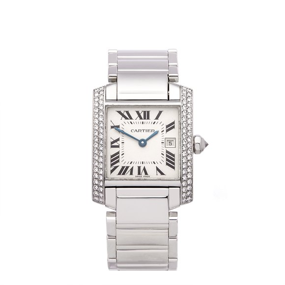 Cartier Tank Francaise Diamond White Gold - WE1018S3 or 2491