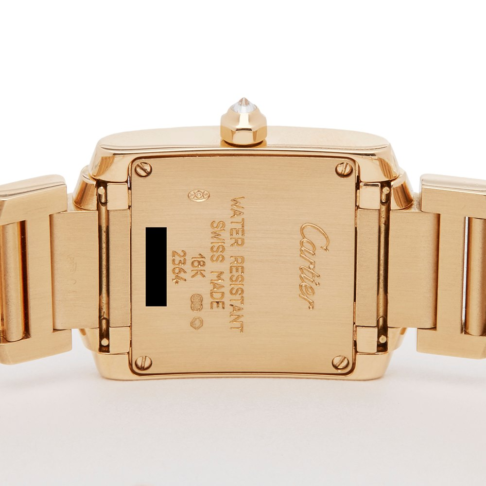 Cartier Tank Francaise Diamond Yellow Gold WE1001RC or 2364