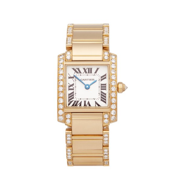 Cartier Tank Francaise Diamond 18K Yellow Gold - WE1001RC or 2364