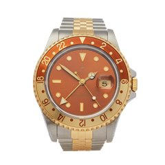 Rolex GMT-Master II Rootbeer Stainless Steel & 18K Yellow Gold - 16713