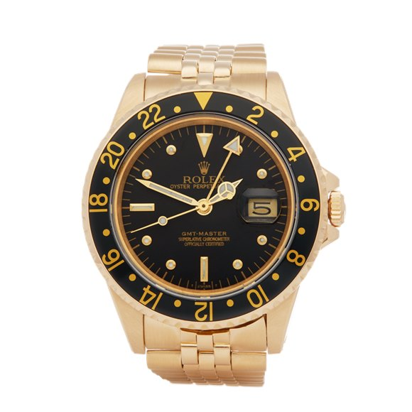 Rolex GMT-Master Nipple Dial 18k Yellow Gold - 16758