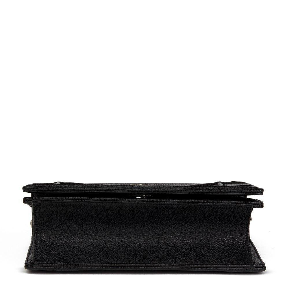 Christian Dior Black Grained Calfskin Leather Small Diorama Flap Bag 18226bb72d269
