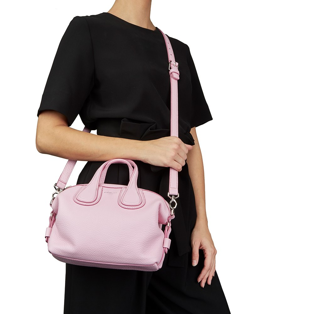 cdc8b4b5eff0 Givenchy Pink Calfskin Leather Micro Nightingale