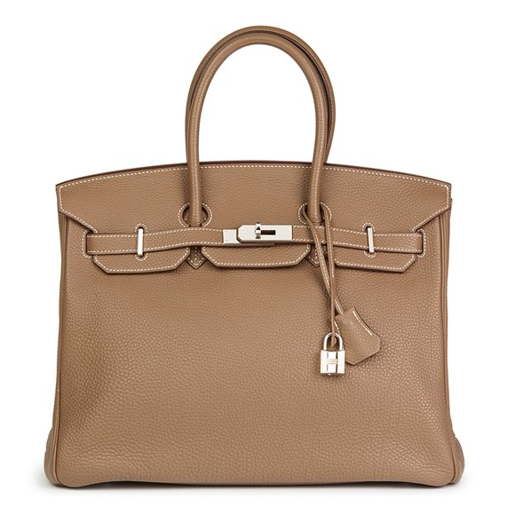b1472be921 Hermès. Etoupe Togo Leather Birkin 35cm