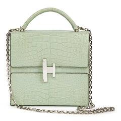 Hermès Vert D'eau Matte Mississippiensis Alligator Leather Cinhetic Top Handle