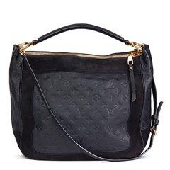 Louis Vuitton Black Monogram Empreinte Leather & Suede Audacieuse Bag
