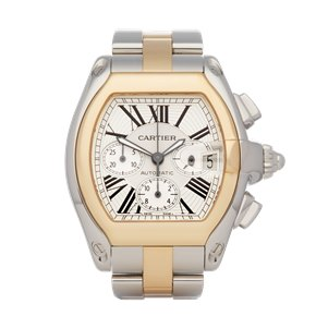 Cartier Roadster Chronograph Stainless Steel & 18K Yellow Gold - 1618