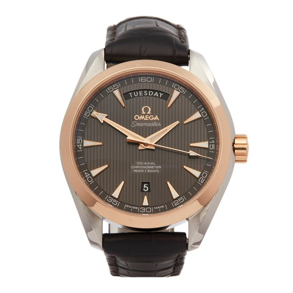 Omega Seamaster Aqua Terra Day-Date Stainless Steel & Rose Gold - 231.23.42.22.06.001