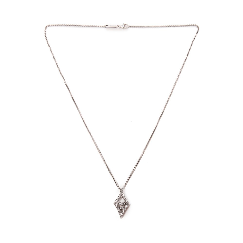 Chopard 18k White Gold Happy Diamonds Kite Necklace