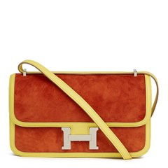 Hermès Paprika Veau Doblis & Soufre Swift Leather Constance Elan