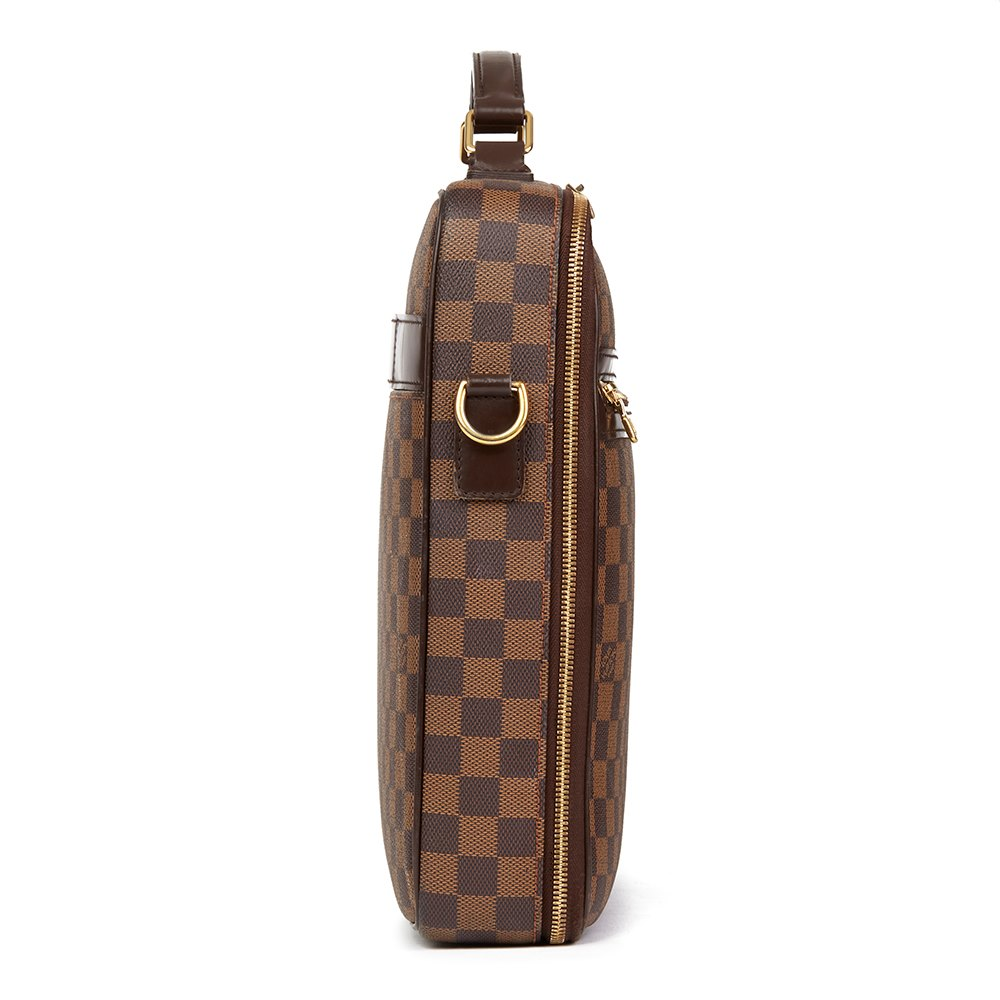 Louis Vuitton Brown Damier Ebene Coated Canvas Sabana Computer Case bad292e8b211d