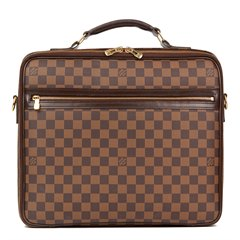 Louis Vuitton Brown Damier Ebene Coated Canvas Sabana Computer Case
