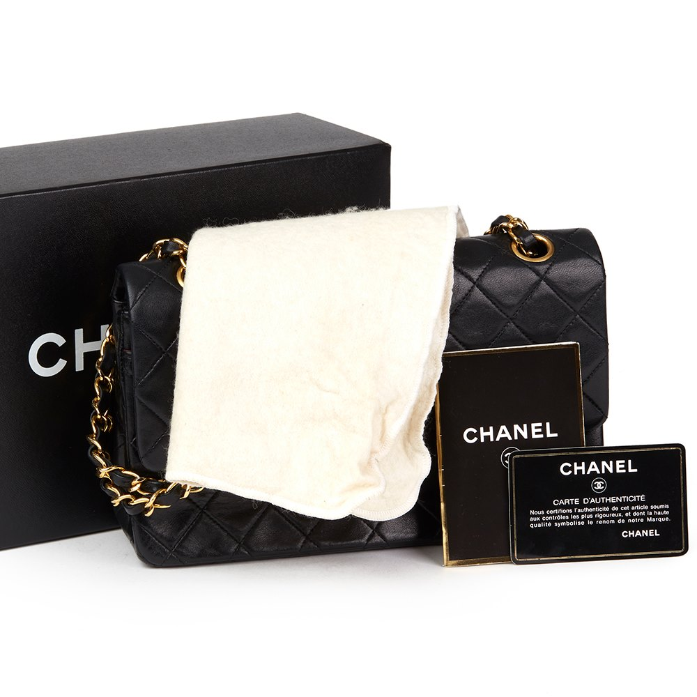 e6bb29035aed Chanel Small Classic Double Flap Bag 1989 HB2325 | Second Hand Handbags