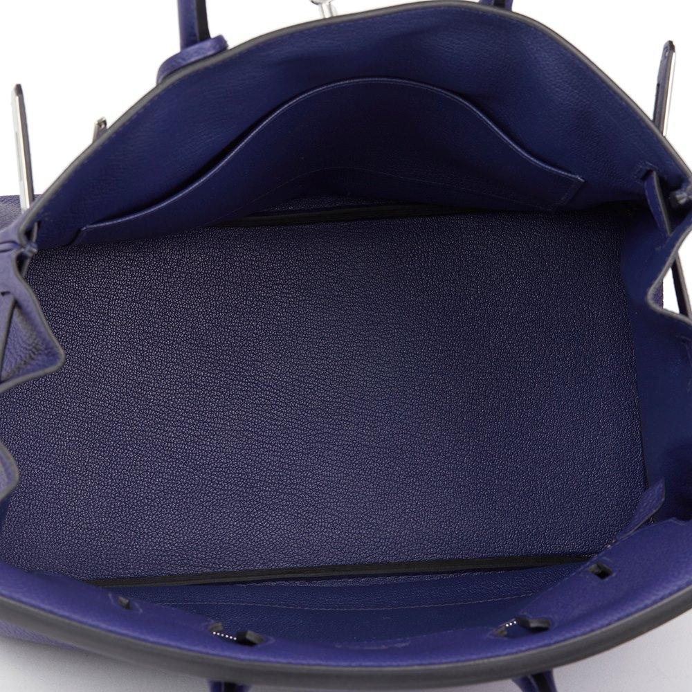 e67370edc3 Hermès Bleu Encre Togo Leather Birkin 30cm