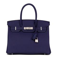 Hermès Bleu Encre Togo Leather Birkin 30cm