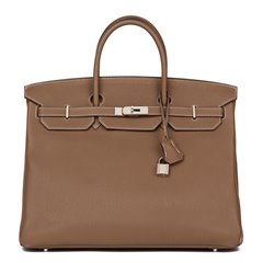 Hermès Etoupe Togo Leather Birkin 40cm