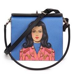 Prada Viola, Fuoco & Black Saffiano Leather Face Art Bag