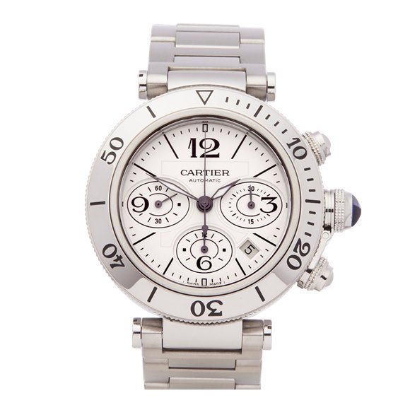 Cartier Pasha de Cartier Sea timer Chronograph Stainless Steel - 2995