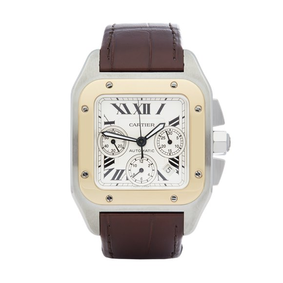 Cartier Santos 100 XL Stainless Steel & 18K Yellow Gold - 2740