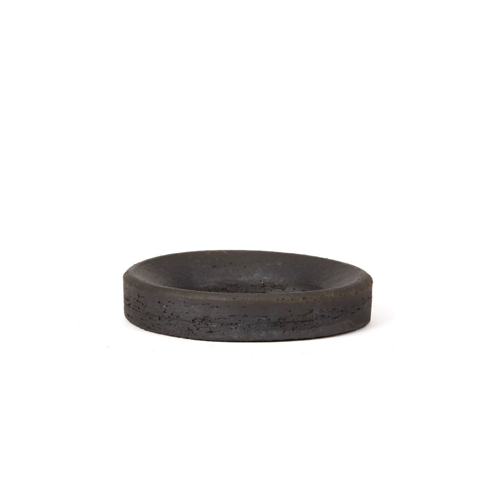 Ilona Sulikova Raku Fired Black Studio Pottery Vase 20th C. 20th Century with small ring support