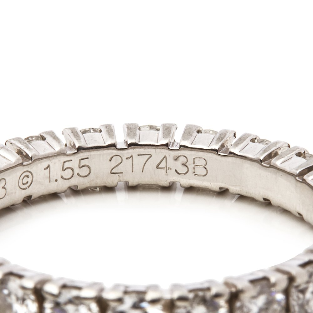 Cartier Platinum 1.55ct Full Diamond Destinée Eternity Ring
