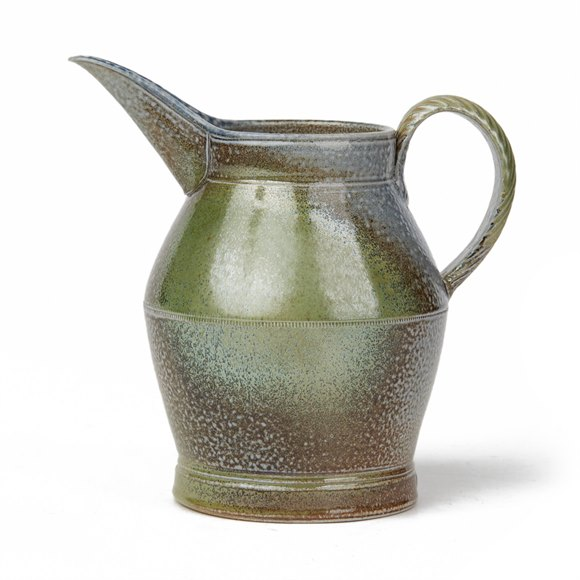 JANE HAMLYN STUDIO POTTERY SALT GLAZED JUG 20TH C.
