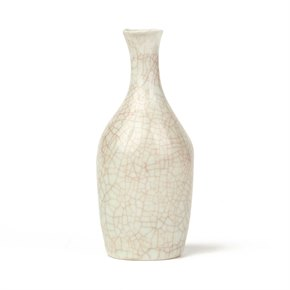 SONIA LEWIS STUDIO CERAMIC CRAQUEL GLAZED BOTTLE VASE
