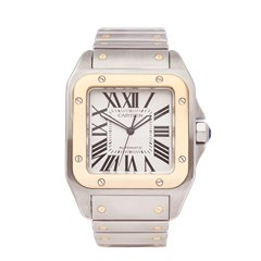 Cartier Santos 100 XL Stainless Steel & 18K Yellow Gold - 2656