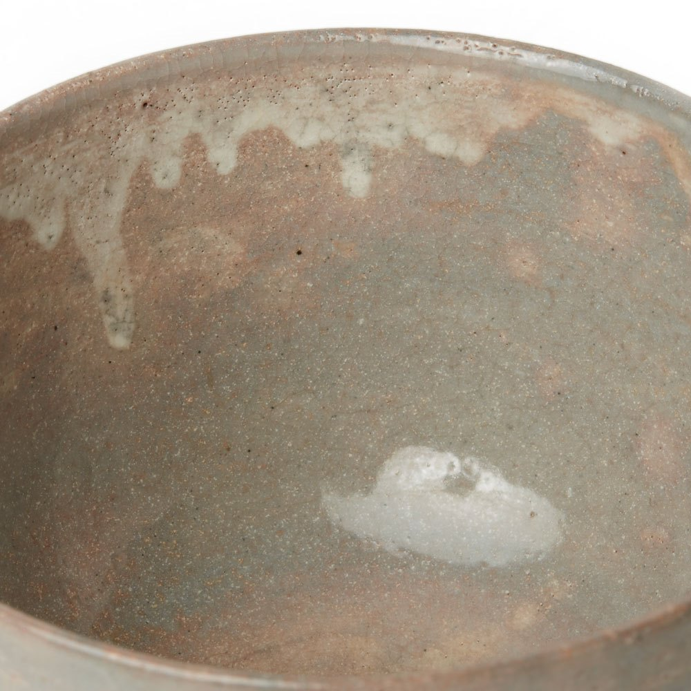 JAPANESE RED EARTHENWARE LANDSCAPE STUDIO POTTERY BOWL 20th Century