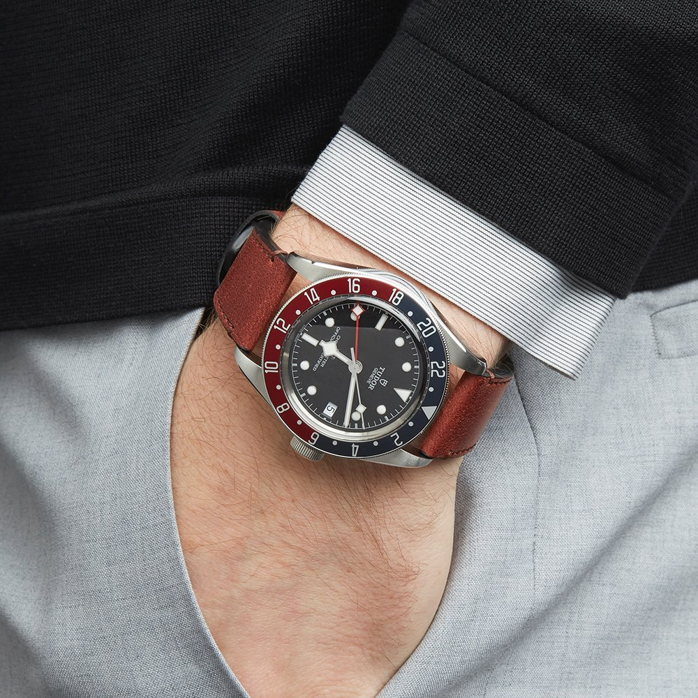 Heritage Black Bay Gmt Pepsi Stainless Steel 79830rb